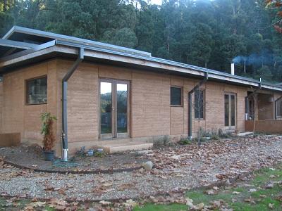 Rammed earth Home in Harrietville