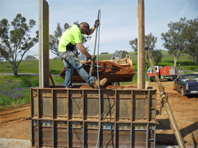 Repeat the ramming process for each rammed earth lift