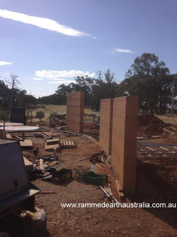 Rammed Earth in Hansonville Victoria