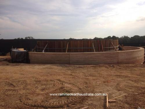 Curved Rammed Earth Walls