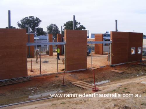Rammed Earth at Frayne Collage Baranduda Australia