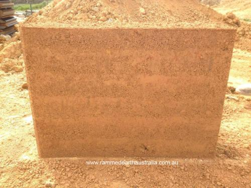 Rammed Earth Sample walls