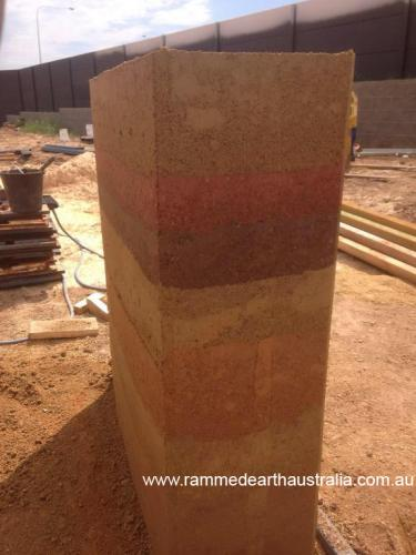 Rammed Earth sample wall