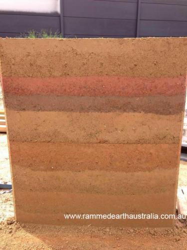 Rammed Earth sample wall