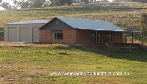 Rammed Earth at Community Centre