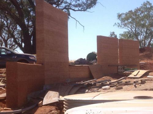 Rammed Earth in Hansonville Victoria